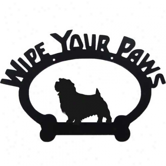 Norfol kTerrier Wipe Your Paws Decorative Sign