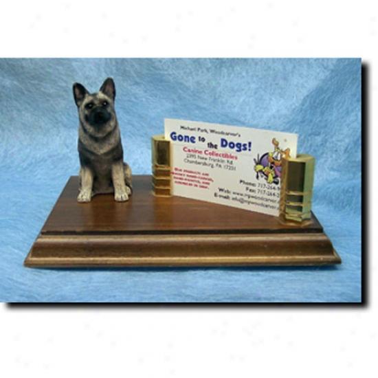 Norwegian Elkhound Business Card Holder