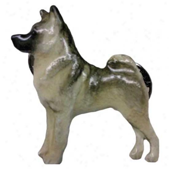 Norwegian Elkhound Hand Painted Fasten