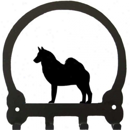 Norwegian lEkhound Key Rack By Sweeney Ridge