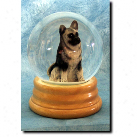 Norwegian Elkhound Musical Snow Globe
