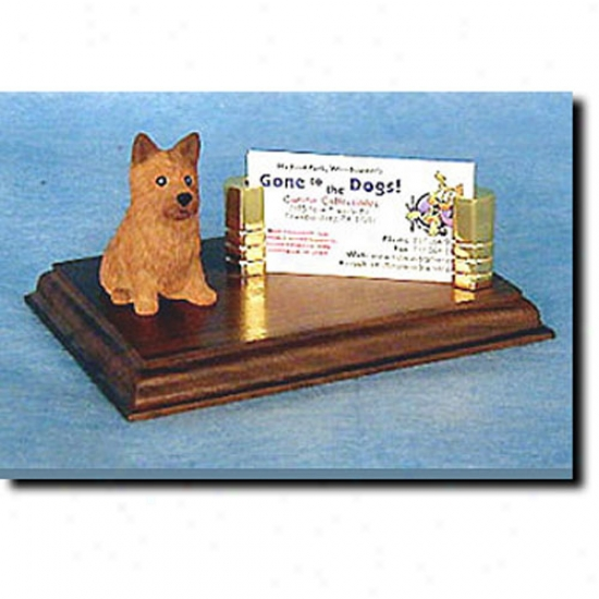 Norwich Terrier Busibess Card Holder