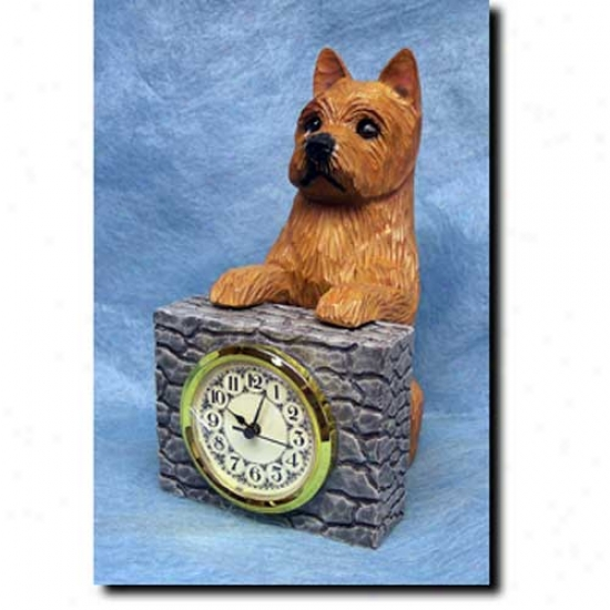 Norwich Terrier Mantle Clock