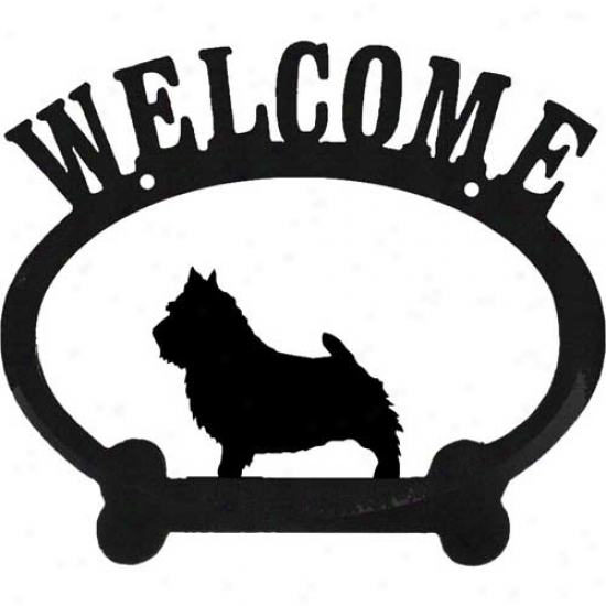 Norwich Terier Metal Welcome Sign