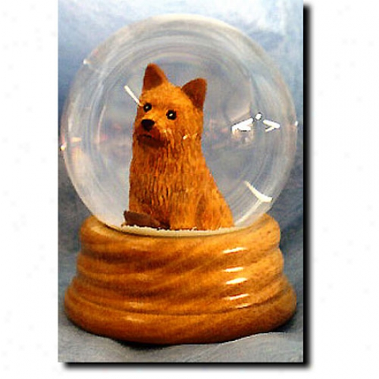 Norwich Terrier Musical Snow Globe