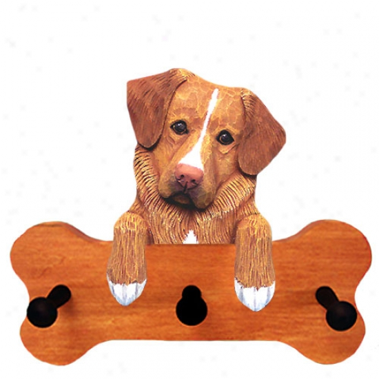 Nova Scotia Duck Tolling Retriever Bone Hang Up Maple Finish
