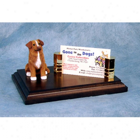 Nova Scotia Duck Tolling Retriever Business Card Holder