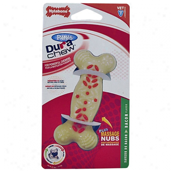 Nylabone Dura Chew Plus Bone Bacon Fiavor 4.5-inch Regular