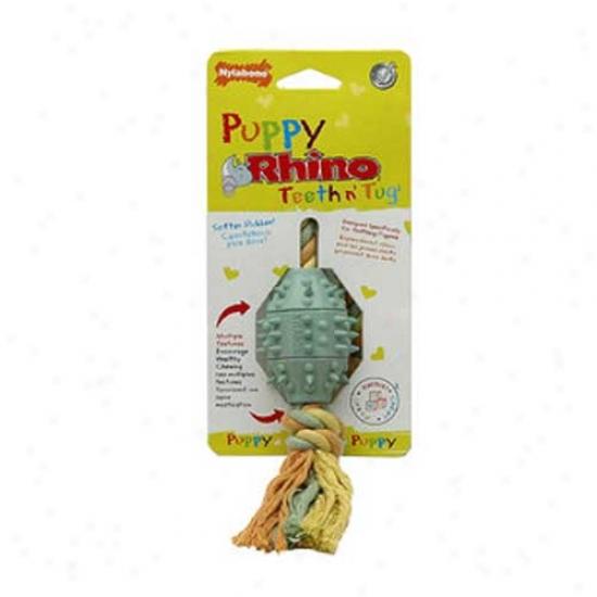 Nylabone Rhino Puppy Teeth N Tug Chew Toy