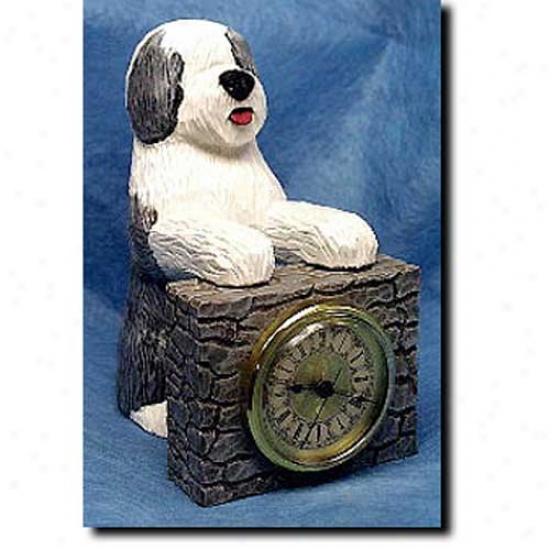 Old English Sheepdog Mantle Clock