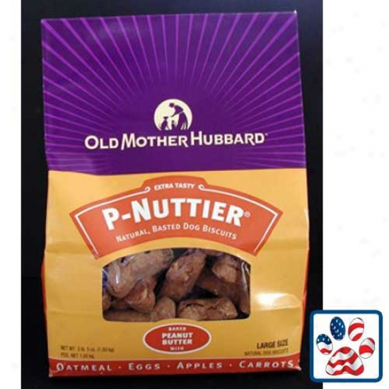 Old Mother Hubbard Classic P-nuttier Oven Baked Dog Biscuits Large 3lb