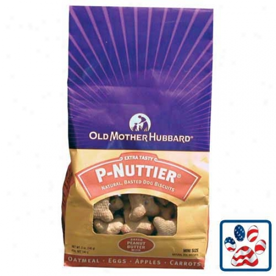Old Mother Hubbard Classic P-nuttier Oven Baked Dog Biscuits Mini 5oz