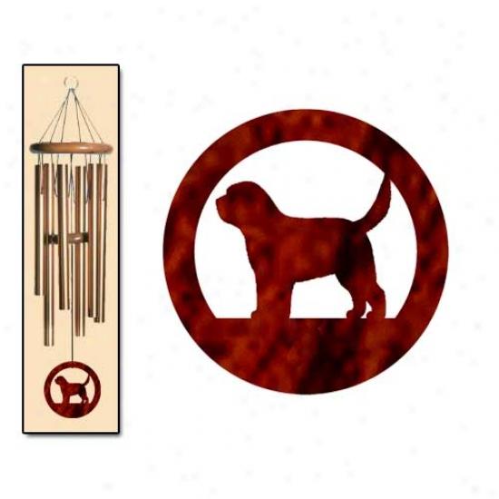 Otterhound Meander Chimes Intervening substance Bronze