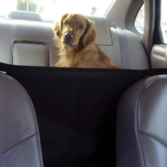 Outward Hound Come before Seat Safety Barrier - Black
