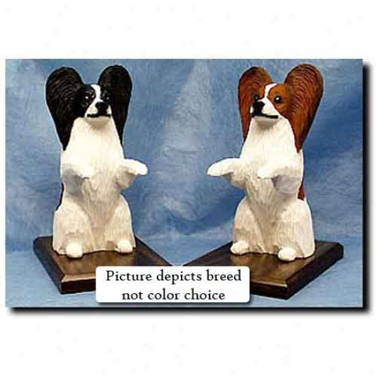 Papillon Bookends Black And White