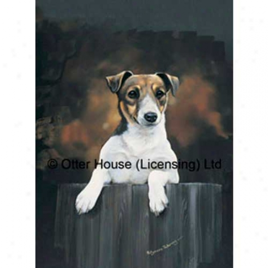 Parson Russell Terrier Garxen Flag By Pollyanna Pickering