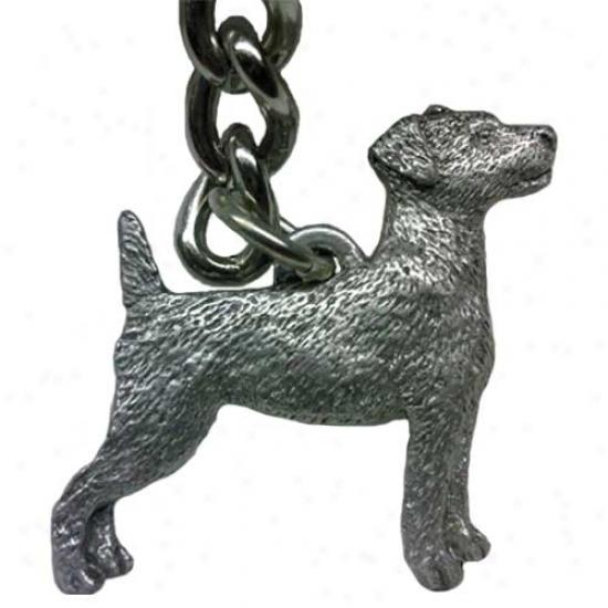 Parish priest Russell Terrier George Harris Pewted Keychain