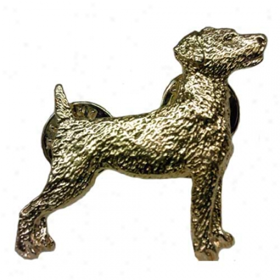 Parson Russell Terrier Pin 24k Gold Plated