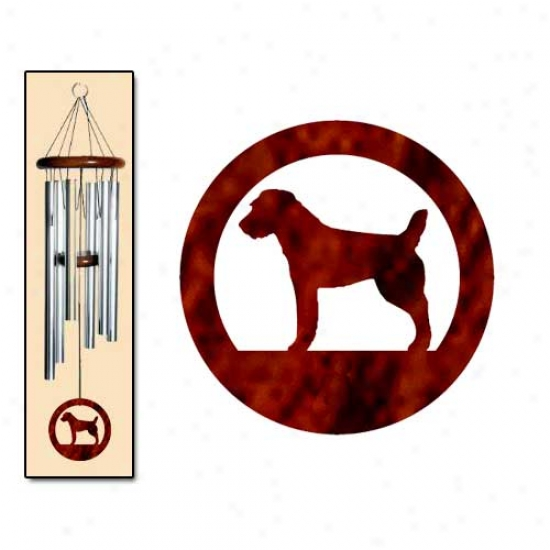Parson Russell Terrier Wind Chimes Medium Silver