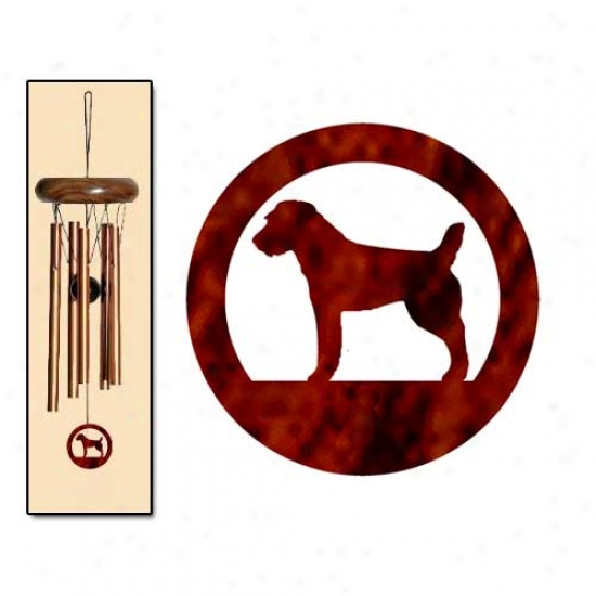Parson Russell Terrier Wind Chimes X-small Bronse