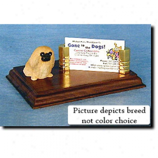 Pekingese (fawn) Business Card Holder