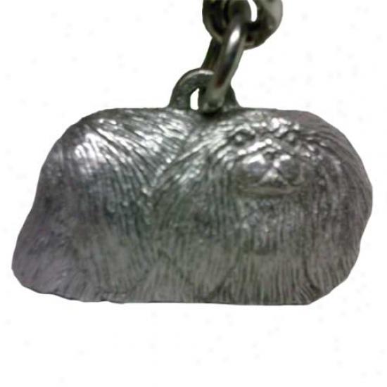 Pekingese George Harris Pewter Keychain