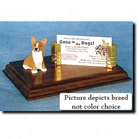 Pembroke Welsh Corgi (red) Business Card Holder