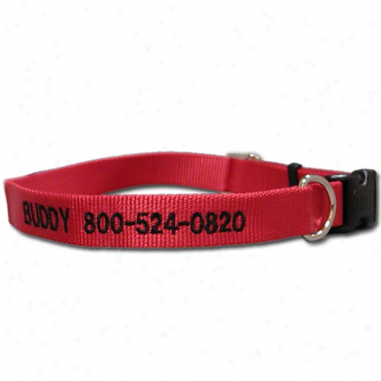 Personalized Adjustable Nylon Collar Adjusts 18 - 26 Inches Black