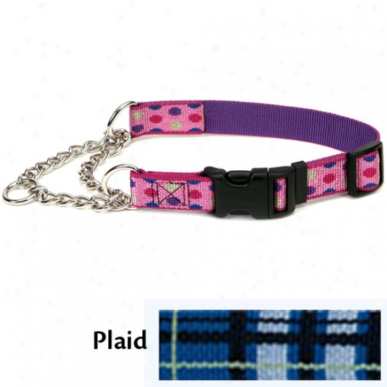 Pet Attire Check-choke Collar 1inch X 22-29inch Plaid