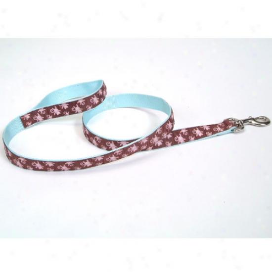 Pet Attire Monkey Pattern Ribbon Lead 5 Eighths X 4 Foot