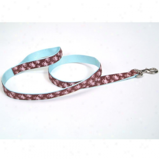 Pet Attire Monkey Pattern Ribbon Lead 5 Eighths X 6 Base