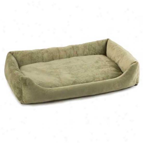 Pet Dreams Plush Eco Bumper Couch Plum Purple 36in