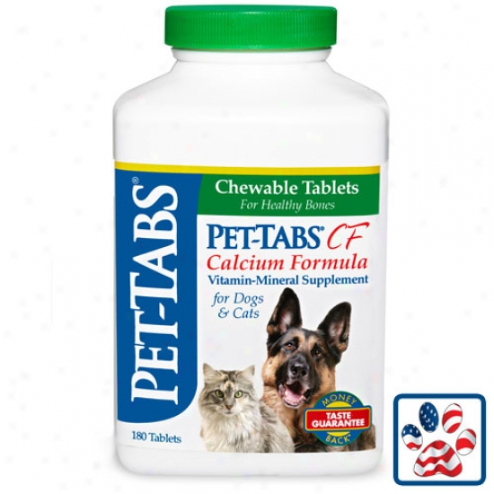 Pet Tabs Cf - Calcium Formula - One Hundred And Eighty Count