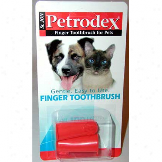 Petrrodex Finger Toothbrush 2-pack (2 Inch)