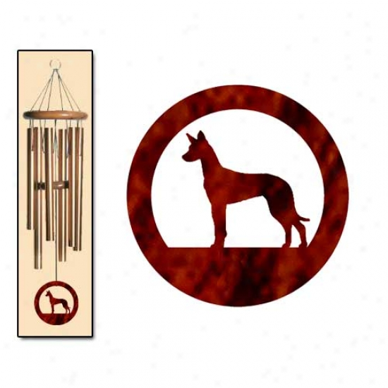 Pharaoh Hound Wind Chimes Medium Bronze