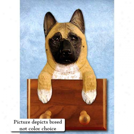 Pinto Akita Leash Holder