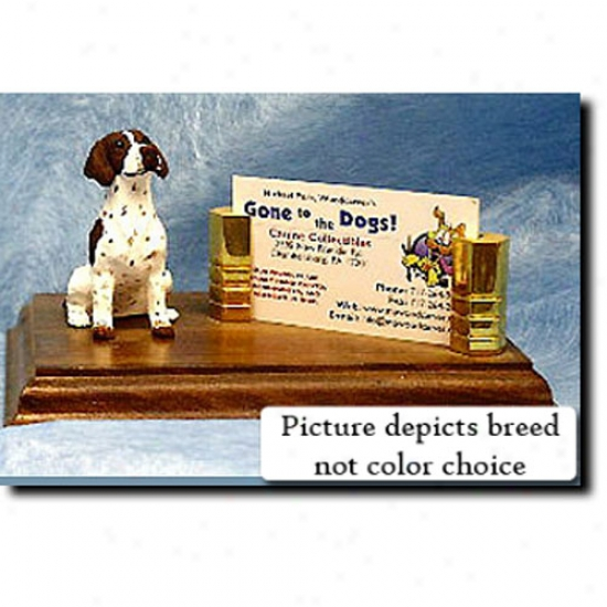 Pointer (liver And White) Business Card Holder