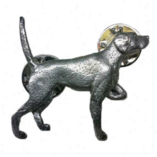 Pointer Pewter Pin