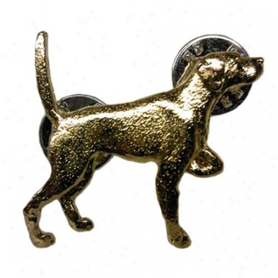 Pointer Pin 24k Gold Plated