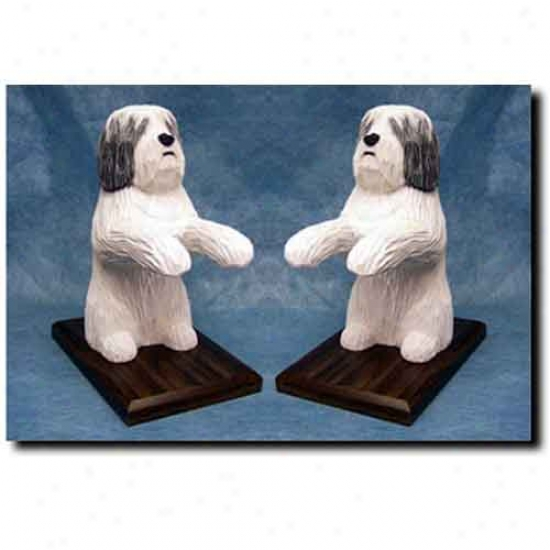 Burnish Lowland Sheepdog Bookends