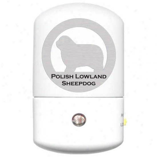 Polish Lowland Sheepdog Led Night Light