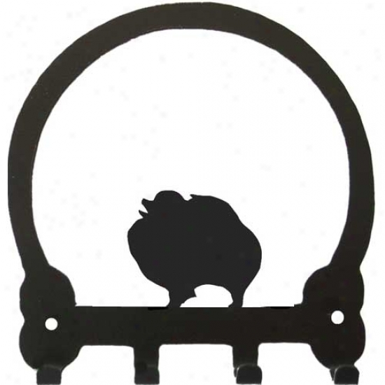 Pomeranian Key Rack By Sweeney Ridge