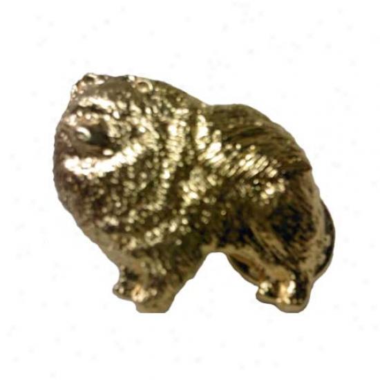 Pomeranian Pinn 24k Gold Plated