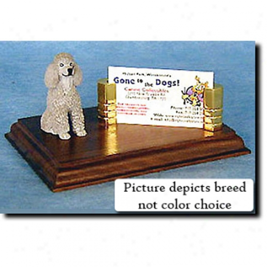 Poodle (apricot) Business Card Holder