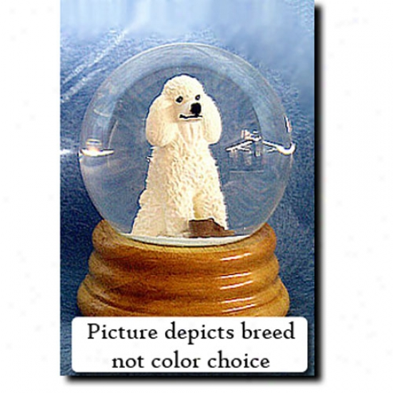 Poodle (grey) Musical Snow Globe