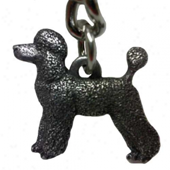 Poodle - Puppy Clip - George Harris Pewter Keychain