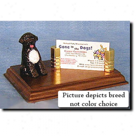 Portuguese Water Dog (black) Business Card Holder