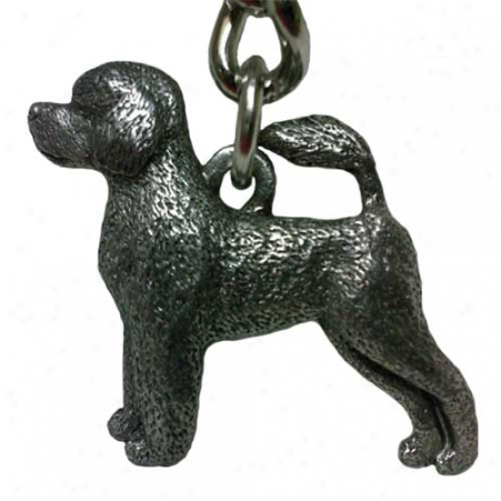 Portuguese Water Dog George Harris Pewter Keychai