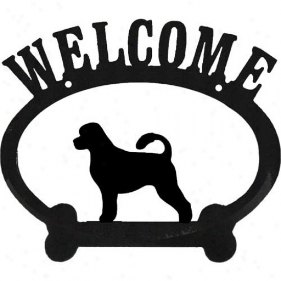 Portuguese Water Dog Metal Welcome Sign