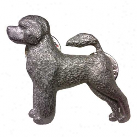 Portuguese Water Dog Pewter Pin